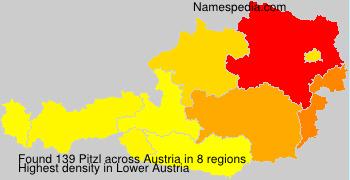Surname Pitzl in Austria
