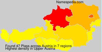 Surname Plass in Austria