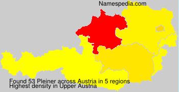 Surname Pleiner in Austria