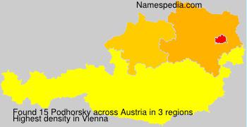 Surname Podhorsky in Austria