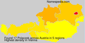 Surname Polaczek in Austria