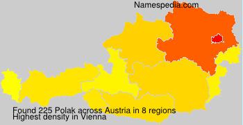 Surname Polak in Austria