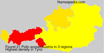 Surname Polin in Austria