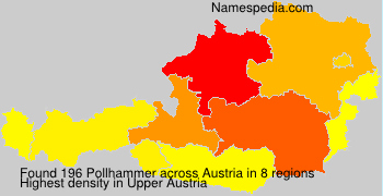 Surname Pollhammer in Austria