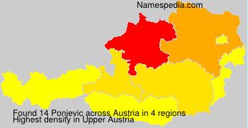 Familiennamen Ponjevic - Austria