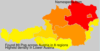 Surname Pop in Austria