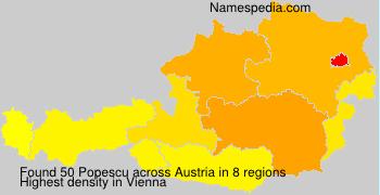 Surname Popescu in Austria