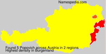 Surname Popovich in Austria