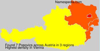 Familiennamen Popovics - Austria