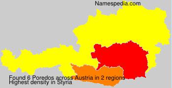 Surname Poredos in Austria