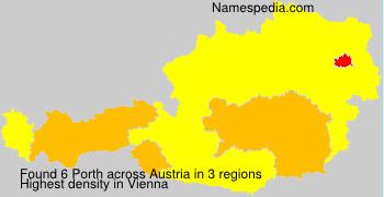 Surname Porth in Austria