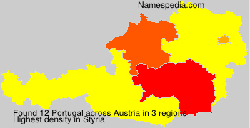 Familiennamen Portugal - Austria