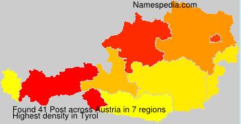 Surname Post in Austria