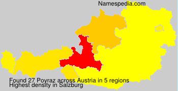 Surname Poyraz in Austria