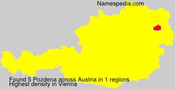 Familiennamen Pozdena - Austria