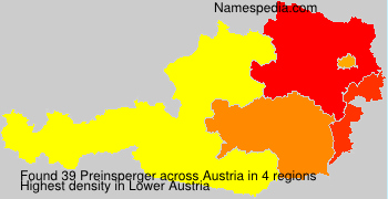Surname Preinsperger in Austria