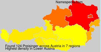 Surname Preisinger in Austria