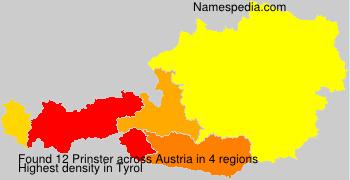 Surname Prinster in Austria