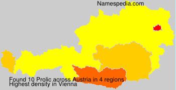 Familiennamen Prolic - Austria