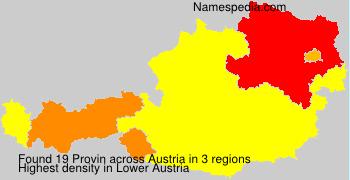 Familiennamen Provin - Austria