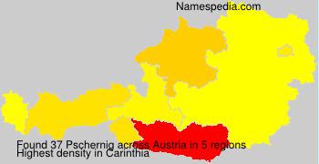 Surname Pschernig in Austria