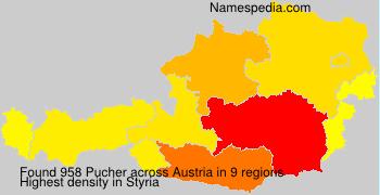 Surname Pucher in Austria
