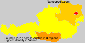 Surname Puzic in Austria