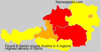 Surname Qerimi in Austria