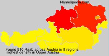 Familiennamen Raab - Austria