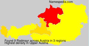Surname Radmayr in Austria