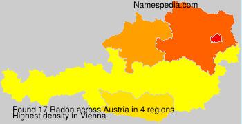 Surname Radon in Austria