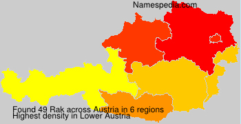 Surname Rak in Austria