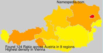 Surname Rakic in Austria