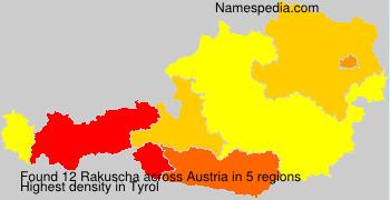 Familiennamen Rakuscha - Austria
