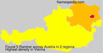 Surname Ramirer in Austria