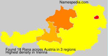 Surname Rana in Austria