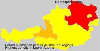 Familiennamen Raschek - Austria