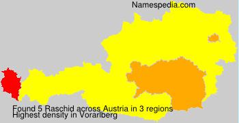 Familiennamen Raschid - Austria