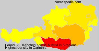 Surname Raspotnig in Austria