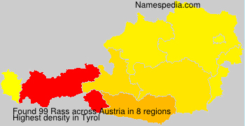 Surname Rass in Austria