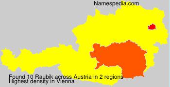 Surname Raubik in Austria