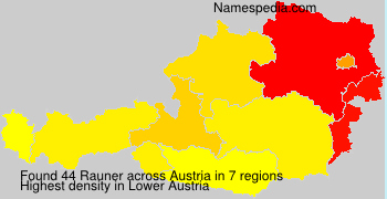 Surname Rauner in Austria