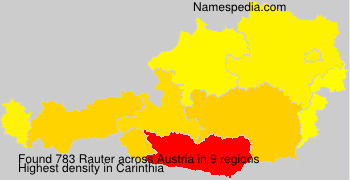 Surname Rauter in Austria