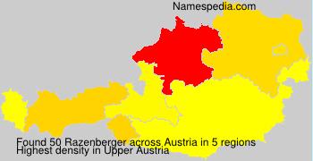 Surname Razenberger in Austria
