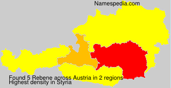 Surname Rebene in Austria