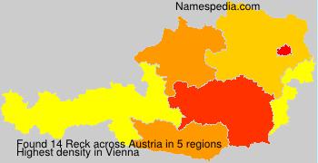 Surname Reck in Austria