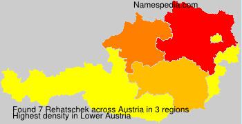 Surname Rehatschek in Austria