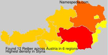 Surname Reiber in Austria