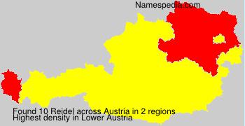 Surname Reidel in Austria