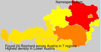 Surname Reinhard in Austria